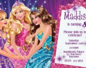 Barbie Princess Charm School Custom Birthday Party Invitation You Print (1)