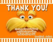 Dr Suess Lorax Birthday Party Custom Thank You Card You Print (1)