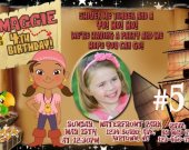 Jake and the Neverland Pirates Featuring Izzy Photo Birthday Party Invitation Personalized You Print Digital File