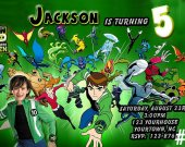Ben 10 Personalized Photo Birthday Party Invitation You Print (digital file)