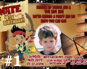 Jake and the Neverland Pirates Photo Birthday Party Invitation Personalized You Print Digital File
