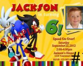 Sonic the Hedgehog Party Personalized Photo Birthday Invitation You Print Digital File