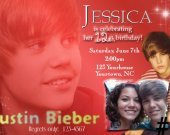 Justin Bieber Personalized Photo Birthday Party Invitation You Print Digital File