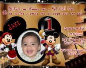 Pirate Mickey and Minnie Mouse Photo Birthday Invitation You Print Personalized