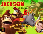 Donkey Kong Birthday Custom Photo Birthday Invitation Personalized You Print Digital File