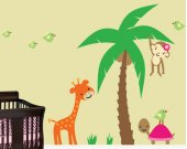 Childrens Wall Decal - Jungle Wall Decal Reusable Removable  - J204SWA