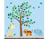 Childrens Jungle Wall Decal - Reusable Fabric Wall Decal - J219SWA