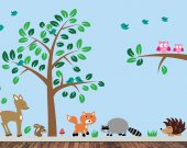 REUSABLE Forest Wall Decal - REUSABLE Wall Decal - J220SWA