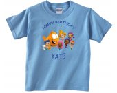 Bubble Guppies Personalized Custom Birthday Pink or Blue Shirt in sizes Toddler 2T to Youth XL