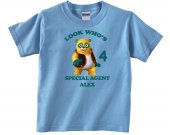 Special Agent Oso Personalized Custom Birthday Pink or Blue Shirt in sizes Toddler 2T to Youth XL