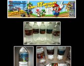 Super Mario Brothers Set of 15 Water Bottle Labels - Make Great Party Favors