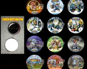 Skylanders Giants Set of 12 Pinback Buttons - Make Great Party Favors - Set 2