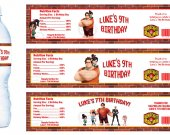 Wreck-it Ralph Water Bottle Labels - PRINTED FOR YOU - Birthday Party Supplies Favors Wreck It Ralph