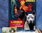 Thai Ridgeback Dog Vintage Movie Style Poster Canvas Print -The Enforcer NEW COLLECTION