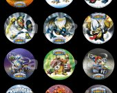 Skylanders Giants Set of 12 2.5-Inch Round Personalized Stickers or Cupcake Toppers-Page 2