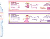 Pinkalicious Water Bottle Labels - PRINTED FOR YOU - Birthday Party Baby Shower Supplies Favors
