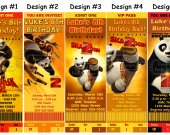 Kung Fu Panda 2 Birthday Party Ticket Invitations, Supplies, and Favors
