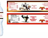 Kung Fu Panda 2 Water Bottle Labels - PRINTED FOR YOU - Birthday Party Baby Shower Supplies Favors