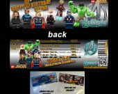 Lego Avengers Set of 12 Goodie Bag Toppers