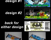 Lego Batman Set of 12 Personalized Candy Bar Wrappers Party Favors