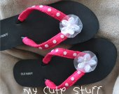 Bride-to-Be Bridesmaid Bridal Party Bachelorette Party Wedding Wedge Black Flip Flops - Choose your color and size