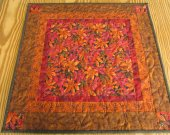 Autumn Table Topper, Fall Table Topper, Centerpiece, Table Decor, Quilted Table Topper, Patchwork Tabletop, U.S.A.