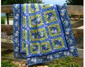 Handmade Quilt Flowers in Bloom, Patchwork Quilt, Lap Quilt, Quilts