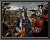 Ibizan Hound Dog Fine Art Canvas Print - Swords and glory