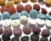 lava volcanic bead diamond button clear black yellow red green purple  blue  assortment  jewelry 26mm