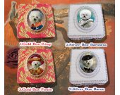 Bichon Frise Jewelry Box Decoupage Vintage Wooden Treasure Box