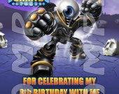 Skylanders Giants Eye Brawl Personalized Thank You Cards