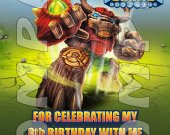Skylanders Giants Tree Rex Personalized Thank You Card