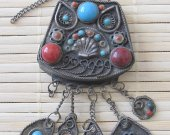 Old vintage Tibetan bottle pendant