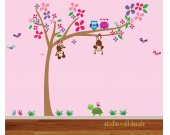 Tree Wall Decal REUSABLE Kids Wall Art Wall Decal 969