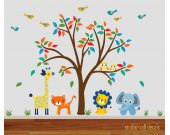 Childrens Reusable Jungle Wall Decal -Wall Decal 917