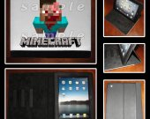 Minecraft Zombie Steve Leather iPad Case - Fits iPad 2, 3 and 4