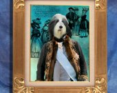 Bearded Collie Art Print 11 x 14 inch original illustration artwork giclee archival PRINT poster