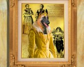 Belgian Malinois Art Print 11 x 14 inch original illustration artwork giclee archival PRINT poster PREMIUM