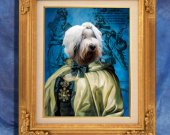 Old English Sheepdog - Bobtail Art Print 11 x 14 inch original illustration artwork giclee archival PRINT poster PREMIUM