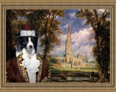 Border Collie Art Print CANVAS print 12x16 by Nobility Dogs - The lord of Sailsbury
