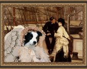 Border Collie Art Print CANVAS print 12x16 by Nobility Dogs - Farewell to the sailor