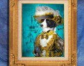 Border Collie Art Print 11 x 14 inch original illustration artwork giclee archival PRINT poster