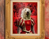 Komondor Art Print 11 x 14 inch original illustration artwork archival PRINT poster