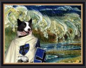Karelian Bear Dog-Karjalankarhukoira Art Print CANVAS print 12x16 by Nobility Dogs - Horses of Neptune