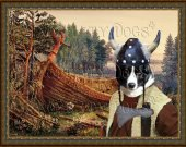 Karelian Bear Dog-Karjalankarhukoira Art Print CANVAS print 12x16 by Nobility Dogs - Old Viking ship