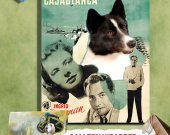 Karelian Bear Dog-Karjalankarhukoira Vintage Movie Style Poster Canvas Print - Casablanca MOVIE POSTER