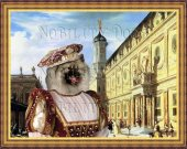 Keeshond Art Print CANVAS print 12x16 by Nobility Dogs -  Renaissance Palace