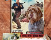 Wirehaired Pointing Griffon Vintage Canvas Print - The Searchers Movie Poster