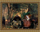 Kooikerhondje Art Print CANVAS print 12x16 by Nobility Dogs - A Thicket of Deer