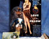 English Toy Spaniel Vintage Movie Style Poster Canvas Print  - Love on a Pillow Movie Poster